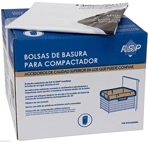 NEW 60 Pack Whirlpool 18 Inch Plastic Trash Compactor Bags W10165293RB 4318938 ,-WH#G4832 TYG43498TY4-U85220 ()