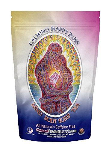Lemongrass Jasmine White Tea - Chamomile Herbal Tea for Sleep and Relaxation. 30 count value pouch, 60 days of benefits. Natural and Organic Chamomile Tea Infused with Delicious Mountain Rose Herbs To Relieve Stress and Anxiety