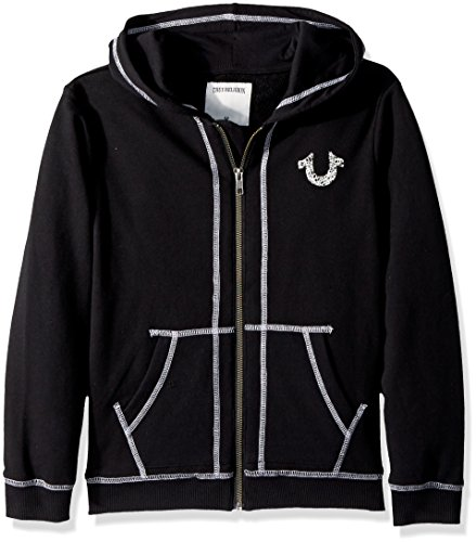 Toddler French Terry Hoodie, Shoe String Black, 2T ()