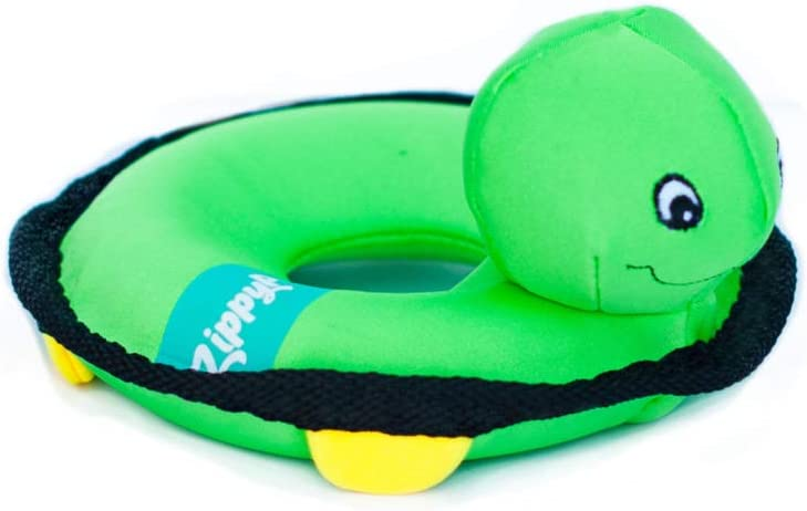 Pet Supplies : ZippyPaws - Floaterz, Outdoor Floating Squeaker Dog Toy - Turtle, Green :