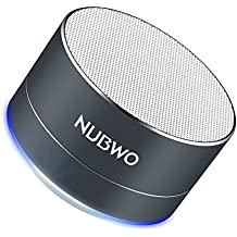 Bluetooth Speaker, NUBWO Mini Portable Outdoor/ Sport / Car Aluminium Alloy Speakers - with Built-in Mic, AUX Line, TF Card, Enhanced Bass for iPhone iPad Android Phone and more (Black)