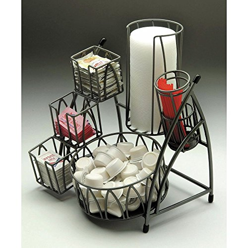 Condiment Holder Flint Powder-Coated Metal - 10