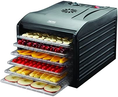 Aroma Housewares Professional 6 Tray Food Dehydrator, Black
