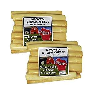 WISCONSIN CHEESE COMPANY'S – Fresh Healthy Smoked String Cheese Snack. (2 Pack)