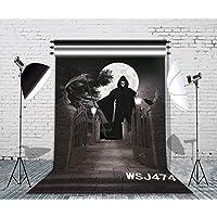 LB 5x7ft Halloween Vinyl Photography Backdrop Customized Photo Background Studio Prop WSJ474