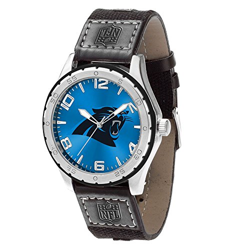 Rico Industries NFL Carolina Panthers WatchWatch Gambit Style, Team Colors, One Size ()