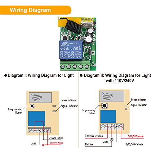 Emylo Dc 12v 1ch 433mhz Rf Relay Smart Wireless Remote Control Light Switch With 707581724775