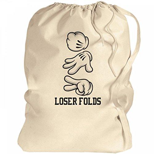Loser Folds Laundry: Canvas Laundry Bag - Funny Laundry