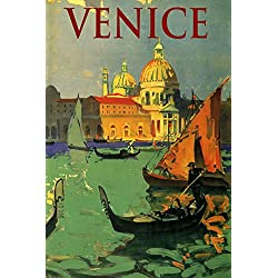 "Venice the Grand Canal Gondola Architecture Northern Italy Italia Italian Europe Travel Tourism 20"" X 30"" Image Size Vintage Poster Reproduction"