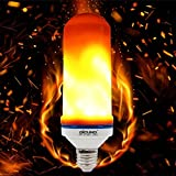 DiCUNO Flame Effect Light LED Bulb, Simulated Flickering Flame LED Bulb, Installing Orientation (Upside-Down /Right-Side-Up), E26 Base Decorative Lamp for Holiday/Party /Home/Hotel/ Bar