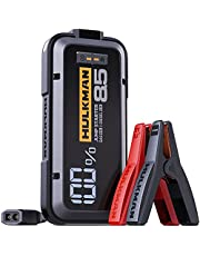 HULKMAN Alpha85 Jump Starter 2000 Amp 20000mAh Car Starter for up to 8.5L Gas and 6L Diesel Engines with LED Display 12V Lithium Portable Car Battery Booster Pack