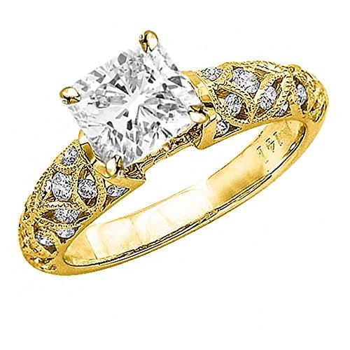 Yellow Gold Vintage Style Filigree - 5