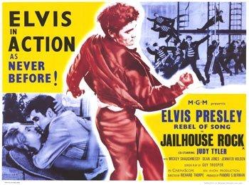 - Jailhouse Rock Elvis King Presley Huge Vintage PAPER Movie Poster Measures 40 x 27 Inches (100 x 70 cm ) approx