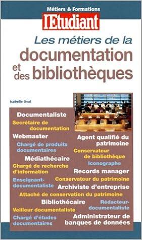 Les métiers de la documentation et des bibliothèques epub, pdf