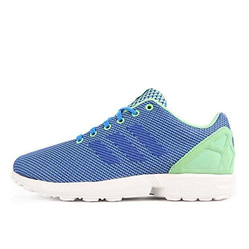 adidas ZX Flux Weave Green Blue White Blau