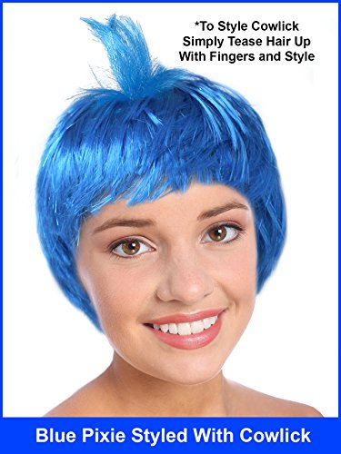 Costume Adventure Blue Joyful Pixie Character Costume Wig