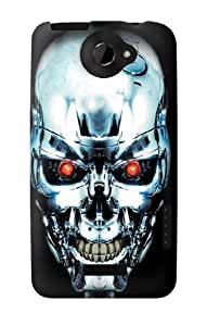 S0146 Terminator Robot Skull Case Cover for HTC ONE X