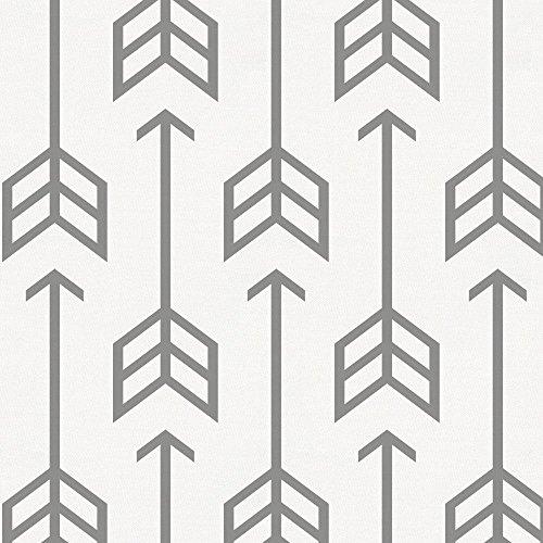 Carousel Designs Cloud Gray Arrow Cradle Sheet