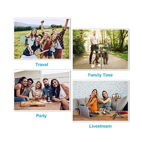 Bovon Bastone Selfie, Mini Estensibile 3 in 1 Selfie Stick Treppiede Smartphone con Telecomando Wireless Compatibile con… 7 spesavip