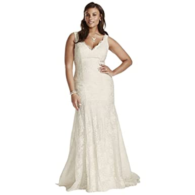 Sample: As-is Scalloped Mermaid Plus Size Wedding Dress Style ...