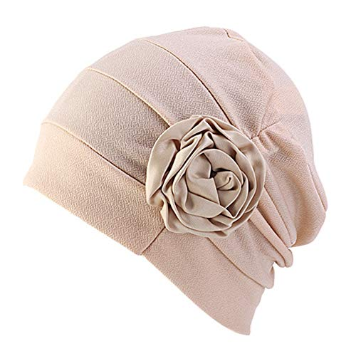 DuoZan Chemo Turban Flower Beanie Head Wrap Scarf Cap Hair Loss Hat for Cancer - Headcover Turban