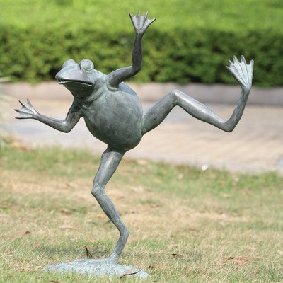 SPI Home 32502 Dancing Frog Spitter Sculpture