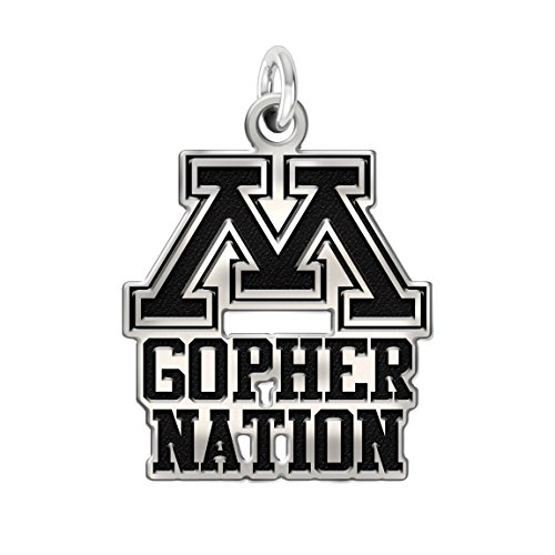 Minnesota Golden Gophers Pride Charm in Solid Sterling Silver ()