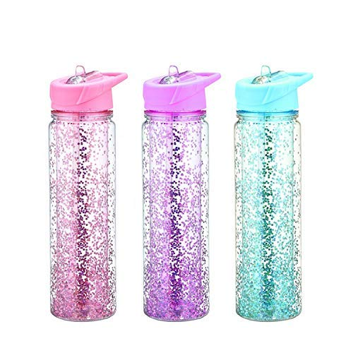 FunBlast Stylish Sipper Bottle Two Layer with Glitter, Fancy Bottle for Girls(Random Color Dispatch) – 1 Pcs – 800ML Price & Reviews