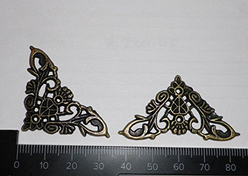 Celtic Woods 4 X Antique Filigree Corner 34X34Mm Jewelery Wooden Box Embellishment Aged - Filigree Accent