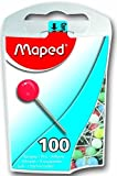 Maped Map Pins in Reusable Plastic Case, 100 Pins per Box, Assorted Colors (346011ZC) (2)