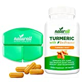 Turmeric Curcumin with Bioperine 1200mg – Includes 95% Curcuminoids – Free Pill Case Included – 60 Vegetarian Capsules- Gluten Free Joint Health Review