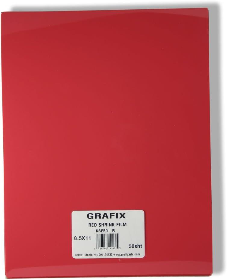 Grafix KSF6-M 8-1//2-Inch by 11-Inch Shrink Film 6-Pack Matte