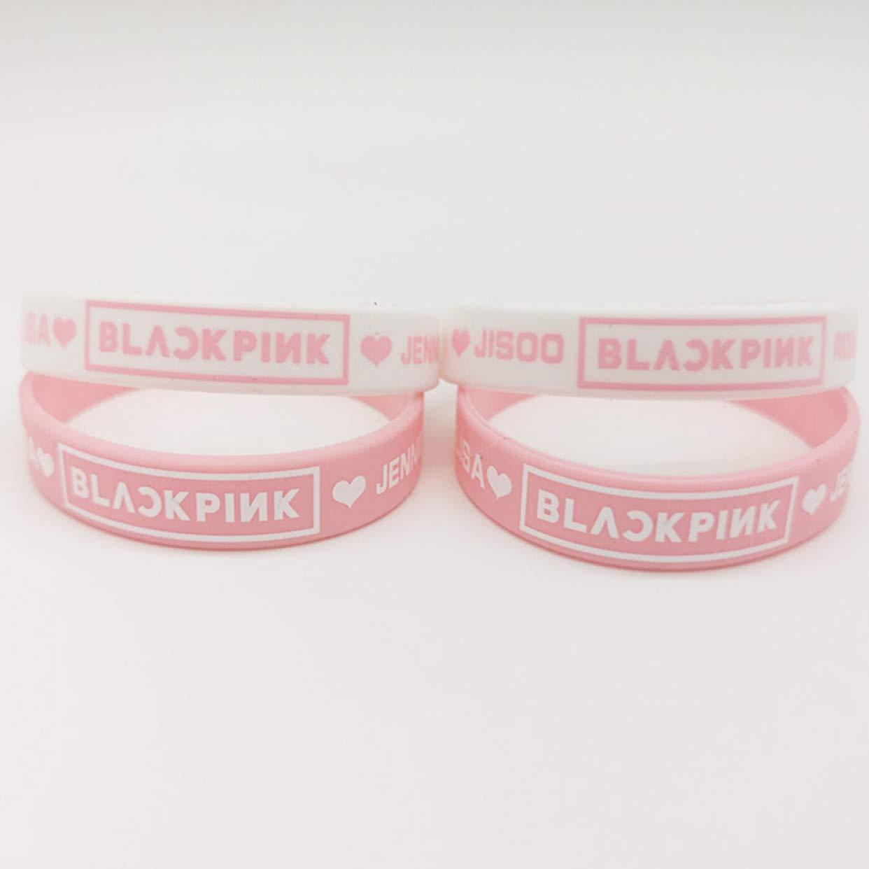 gonglong Bracelet en Silicone pour gar/çons et Filles Motif Kpop Noir//Rose