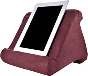 Tablet Pillow Stands for iPad Book Reader Holder Rest Laps Reading Cushion BO (Wine Red)