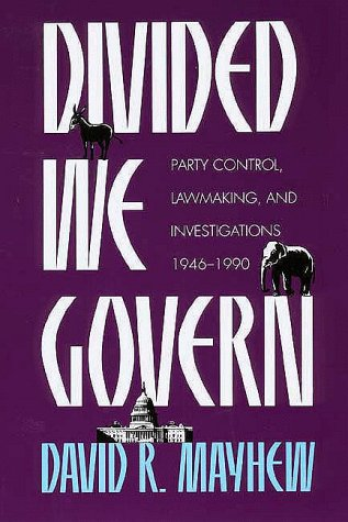 divided we govern Divided we govern david r mayhew introduction since world war ii, divided party control of the american national government has come to.