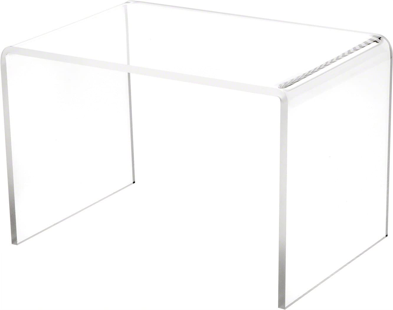 "Plymor Clear Acrylic Rectangular Display Riser, 6"" H x 9"" W x 6"" D (1/4"" Thick)"