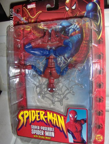 Spider-Man Super-Poseable with Sticky Web Figure]()