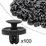 Ocr ™ 100PCS 7mm Push Rivets Push Hole Retainer Black Nylon Push Type Fastener Rivet Push Clips Bumper Clips Automotive Furniture Assortment Expansion Screws Assortment Kit