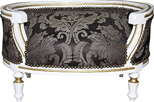 Casa-Padrino-Baroque-Dogs-Cats-sofa-Black-baroque-pattern-White-Gold-Dogs-chair-seat-dog-bed-cat-bed-dog-cat-furniture
