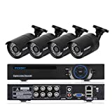Incosky 8 Channel DVR Security System AHD 1080N (960x1080) + 4 Pack 960P AHD Indoor/Outdoor Security CCTV Cameras For Home/ Apartment/Office Surveillance Monitor