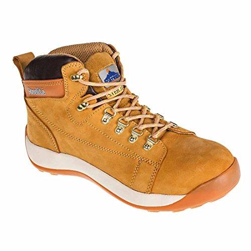 Portwest Steelite Mid Cut Stiefel Nubukleder, stylisches Design Kautschuk-Sohle Schuhe schwarz Honig