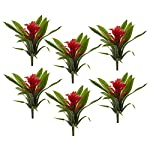 Nearly-Natural-10-Bromeliad-Artificial-Flower-Stem-Set-of-6