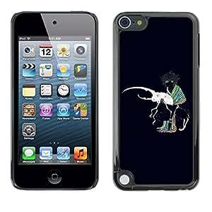 PC/Aluminum Funda Carcasa protectora para Apple iPod Touch 5 Abstract Colors Painting / JUSTGO PHONE PROTECTOR
