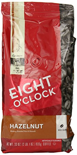 Eight O'Clock Whole Bean Coffee, Hazelnut, 33 Ounce