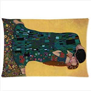 Best Custom Pillowcase - Customized The Kiss by Gustav Klimt Pillowcase,Twin Sides Pillowcase Pillow Cover 20x30 inches by ruishername