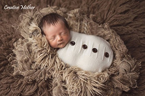 [Creative Mother Christmas Cocoon Sleeping Bag for Newborn Boy Girl Cotton Knitted Crochet Photography Prop (Button] (Elephant Bunting Costumes)