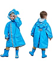 SSAWcasa Kids Rain Coat,3D Cartoon Children Toddler Rainwear Jacket Poncho for Boy Girl