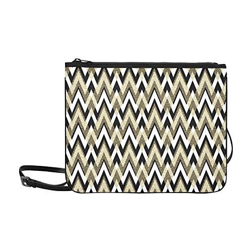 Abstract Gold Pattern Retro Wallpaper Pattern In Pattern Custom High-grade Nylon Slim Clutch Bag Cross-body Bag Shoulder Bag