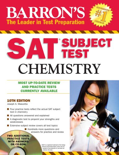 Barron's SAT Subject Test Chemistry with CD/ROM (Barron's SAT Subject Test Chemistry (W/CD))