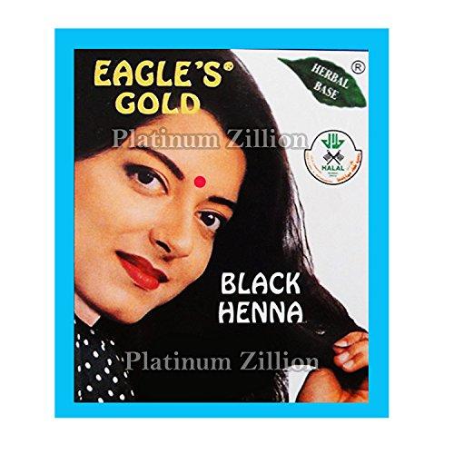 Eagle's Gold - Black Henna Hair Colour / Color Dye Powder Unisex 10 Boxes (60pcs X 10g) by Eagle's Gold